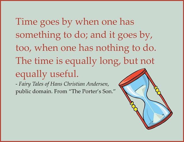 Hans Christian Andersen, how time passes