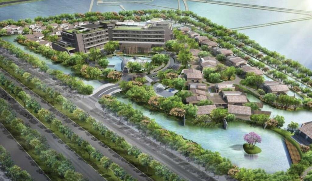 逸水立旅計畫在四草大道與本田路設置面積達6.36公頃的逸水台江渡假村。擷取自環評書件