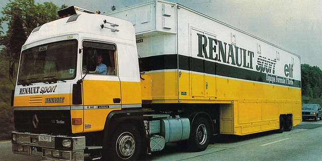 Postcard Renault R360-19T V8 Team Renault Sport Collection Camions-Magazine 1980a
