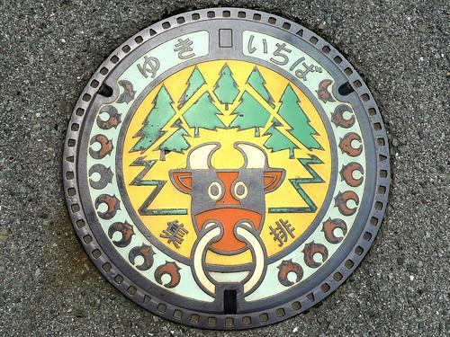 Yuki Hiroshima, manhole cover (広島県油木町のマンホール)