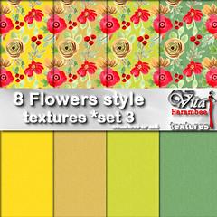 8 Flowers style FP set3