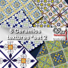 6 Ceramics blueyellow FP set2
