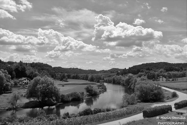 Stative, Croatia - Clouds over the river Dobra...