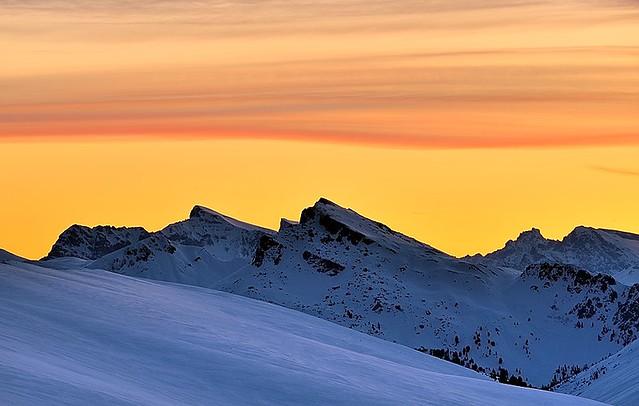 Italy, winter sunrise