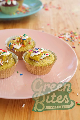 #SPRINGVIBES Lemon Poppy cupcake Bites by Green Bites Cookies