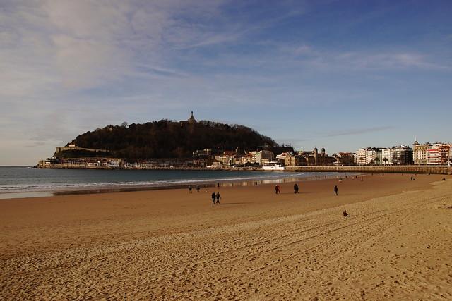 Donostia - The beach at San Sebastián - Basque Country