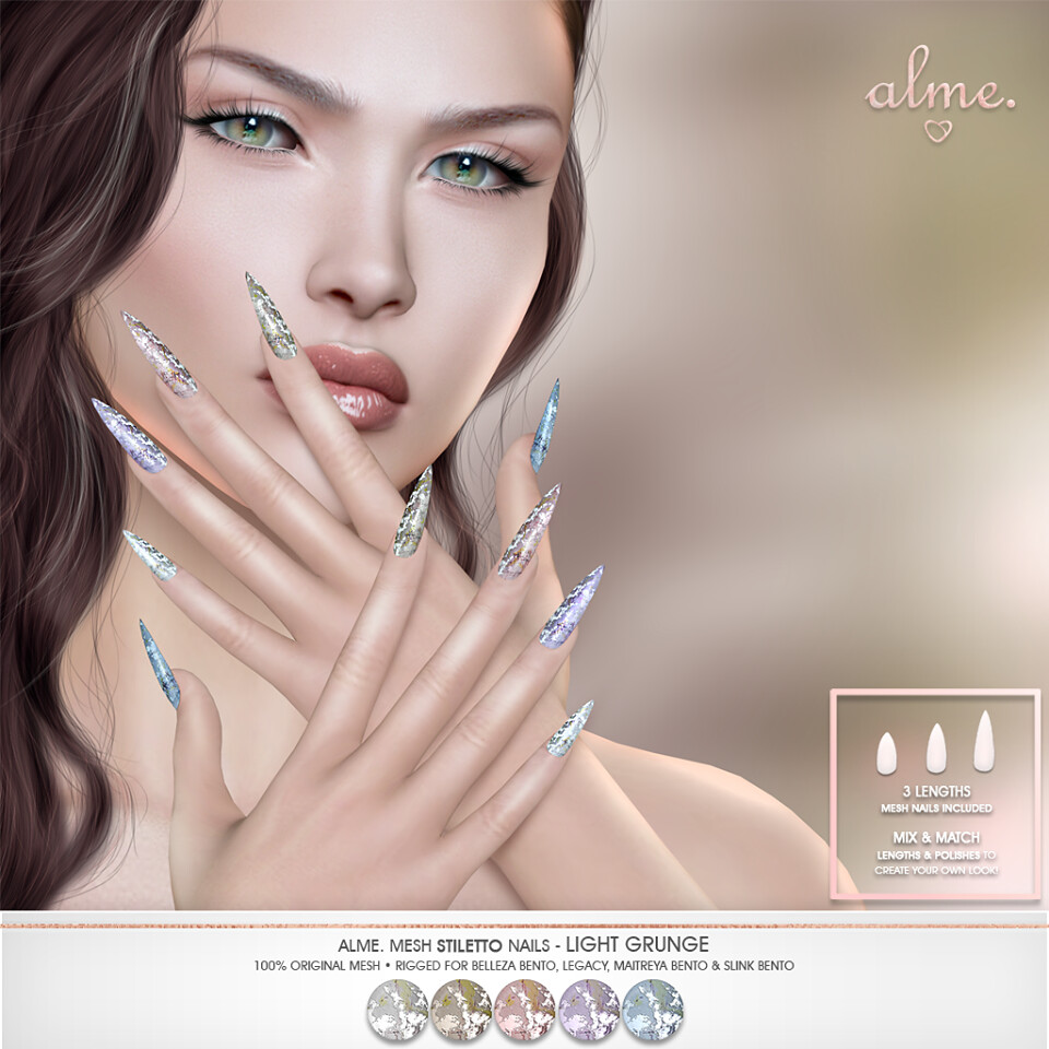 "Alme for Belle Events – ""Alme Mesh Stiletto Nails/ Light Grunge"""