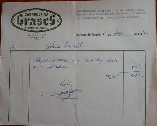 factura Carrosser grases Vilafranca del Penedès