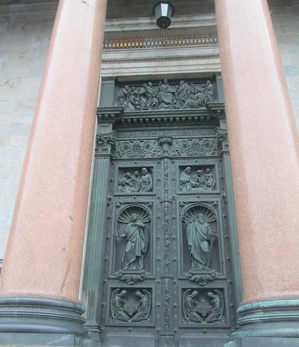 Door, St Isaac's Cathedral, St Petersburg,
