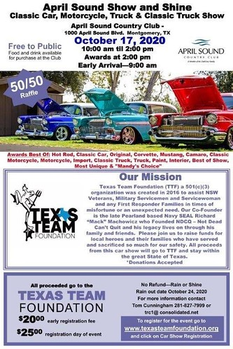 10-17-2020 April Sound Show and Shine Flyer | by Camaro Kid Car Show Listings