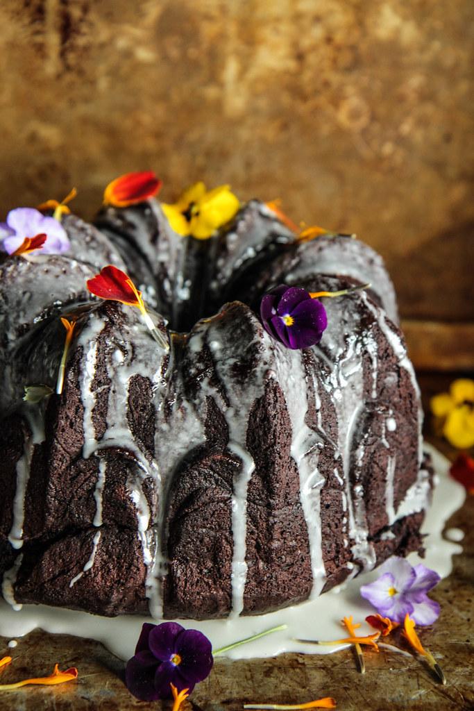 Chocolate Coffee Zucchini Cake (Vegan and Gluten-free) from HeatherChristo.com
