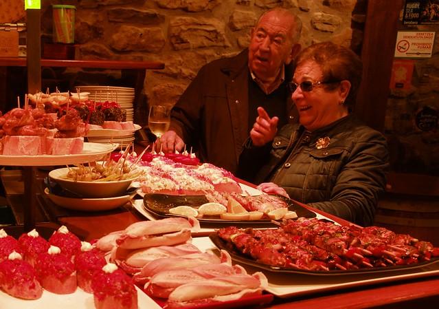 The joy of Basque pintxos and a glass of white wine - Donostia - San Sebastian