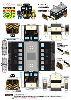 ペーパークラフト☆電気機関車(EL201)