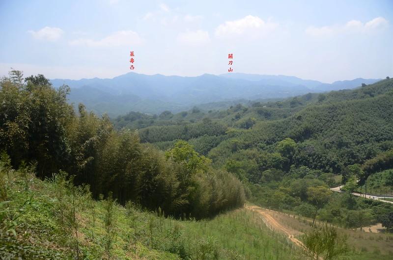 茄苳坑山頂南眺群山