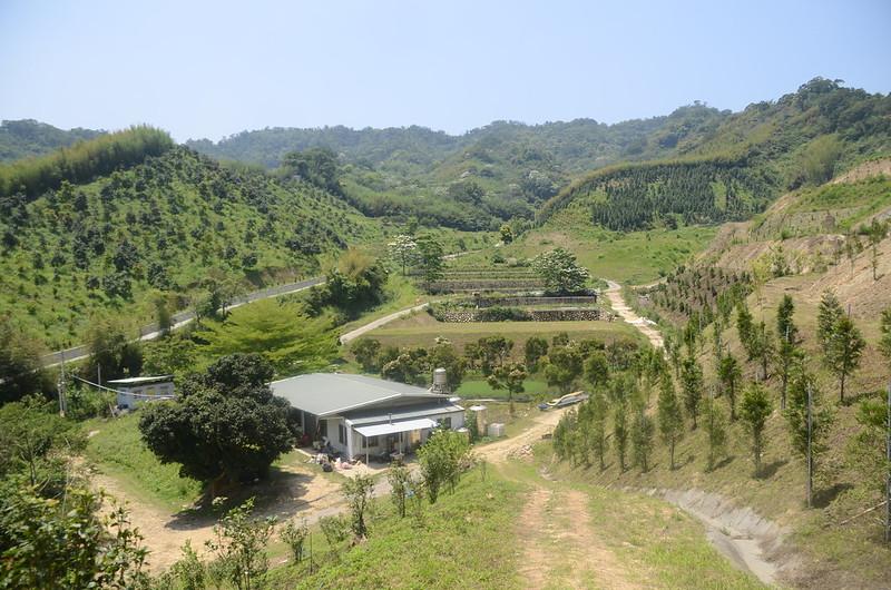 茄苳坑山頂俯瞰停車處農家 (2)