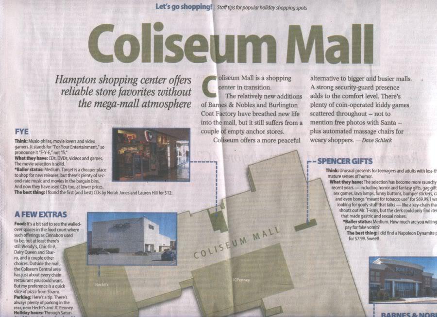 Coliseum Mall Review, December 2005