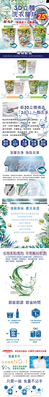 日本P&GBold植物精萃3D立體2.5倍洗衣膠球(38顆袋)介紹圖