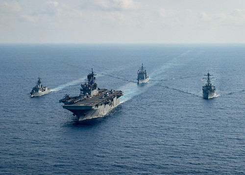 SOUTH CHINA SEA – The U.S. Navy and Royal Australian Navy came together for operations in the South China Sea starting April 13.