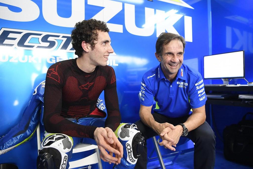 Alex Rins with Davide Brivio