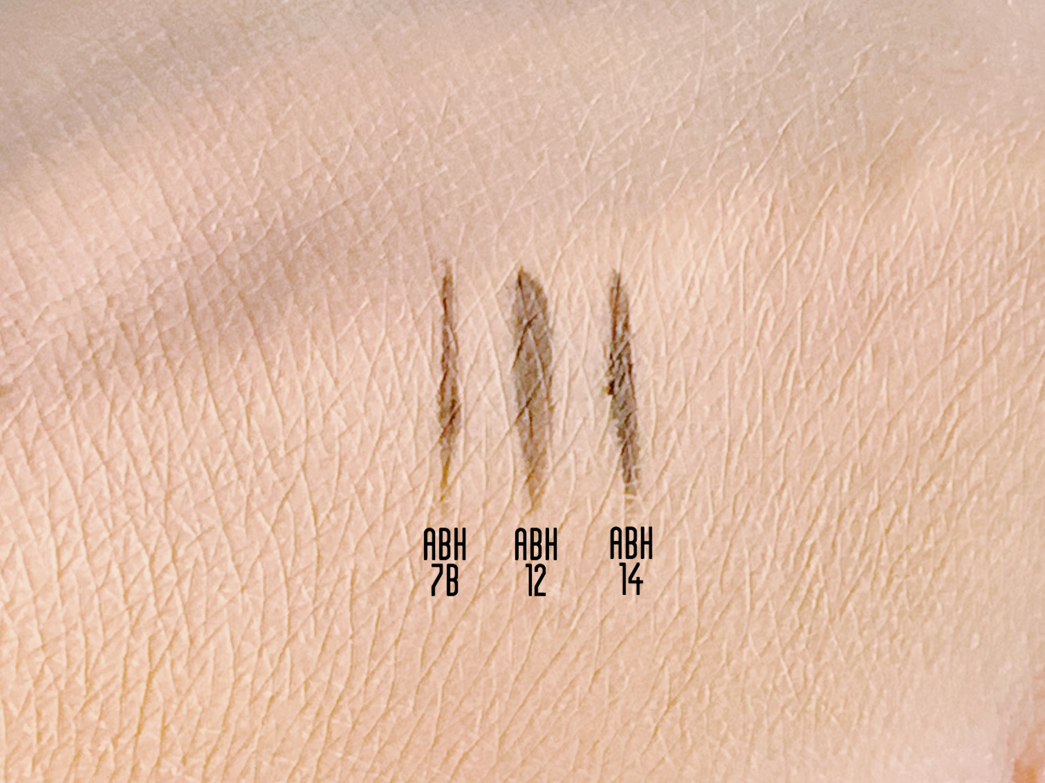 ABH brow brush 12 vs 14 vs 7B
