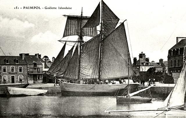 Goëlette Islandaise à Paimpol vers 1900