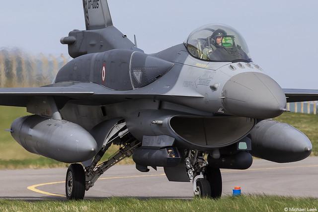 Türk Hava Kuvvetleri (Turkish Air Force) general Dynamics F-16C Fighting Falcon 07-1005; RAF Lossiemouth, Scotland