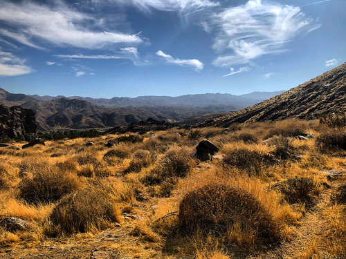 vista view clouds sky grass mountains nature hot afternoon hiking dry desert california southerncalifornia palmsprings