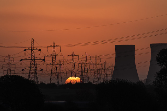 Sunrise over Eggborough