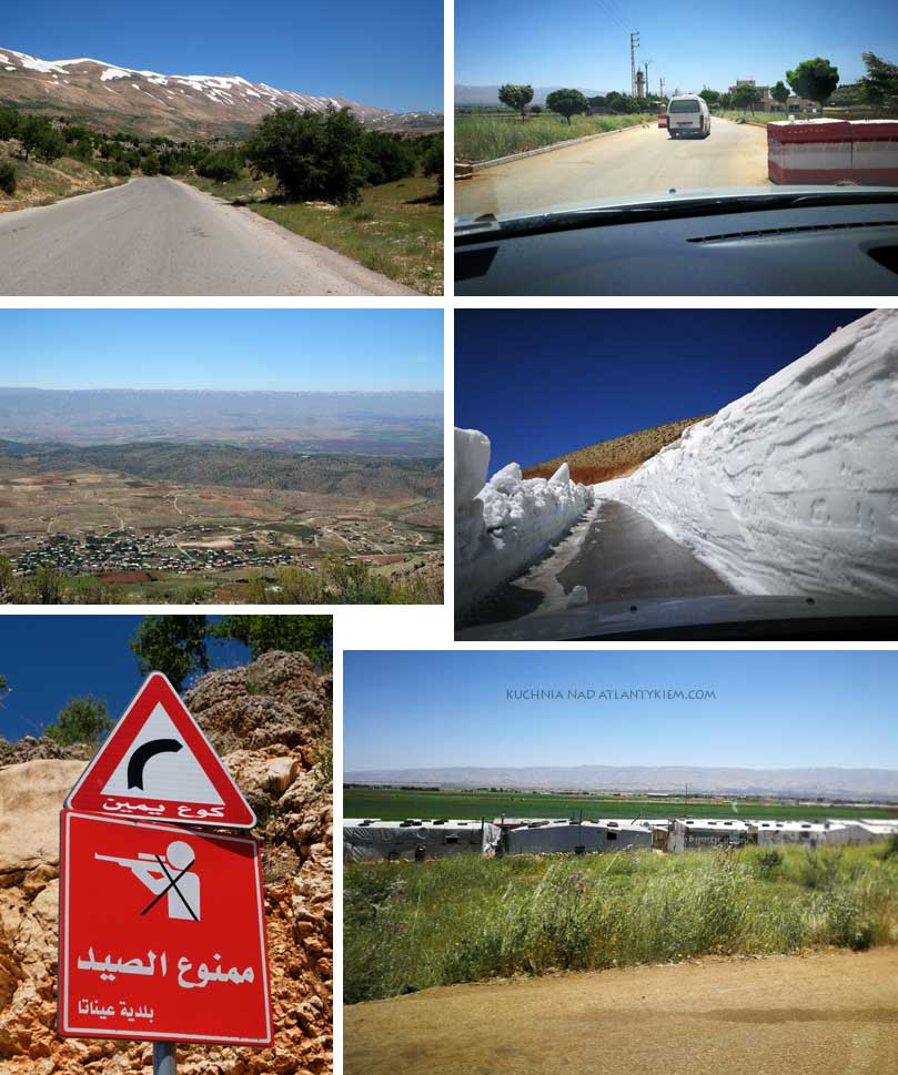 Lebanon, Beeka Valley and Syrian border, travelling by car.