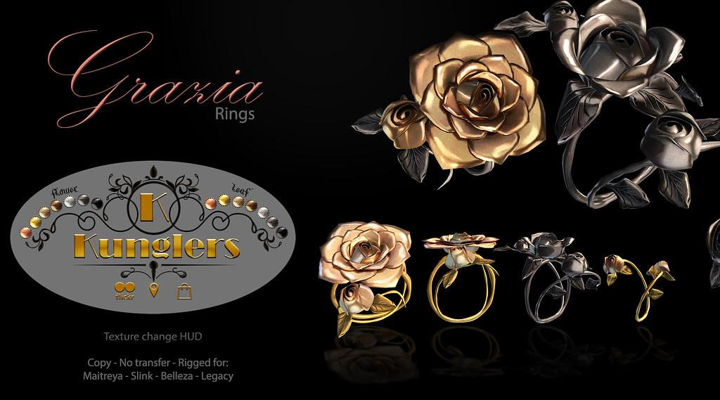 KUNGLERS – Grazia rings