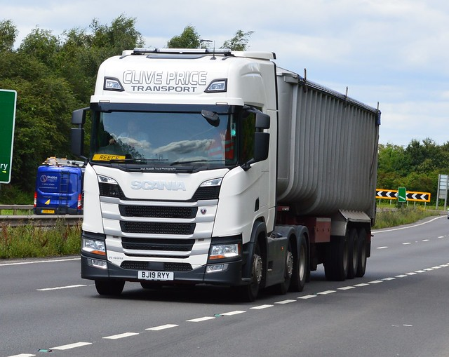 Clive Price BJ19 RYY On the A5 At Shrewsbury