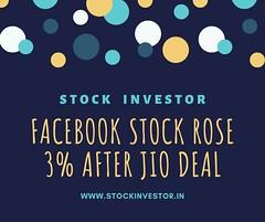 Facebook stock rose 3% after Jio deal