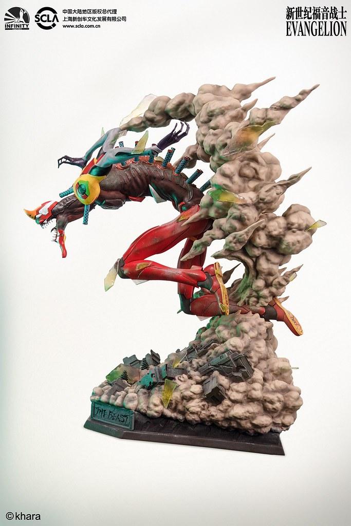 力量完全釋放的狂暴姿態登場! Infinity Studio《福音戰士新劇場版:破》貳號機 獸化第2形態(EVA02 THE BEAST)全身雕像公開