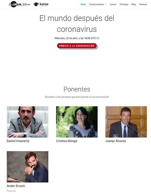 El mundo después del coronavirus