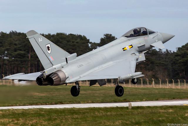 RAF Eurofighter Typhoon FRG4, ZJ935/DJ; RAF Lossiemouth, Scotland