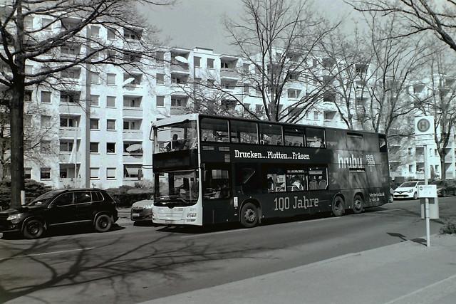 Berlin BVG Bus Werbung (Hurby) 12.4.2020