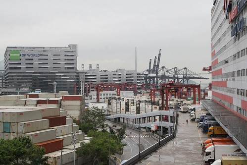 Multi storey warehouse at the Goodman DP World and Modern Terminals complexes