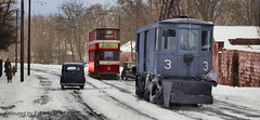 Leeds snow sweeper 3 and tram 216 in colour