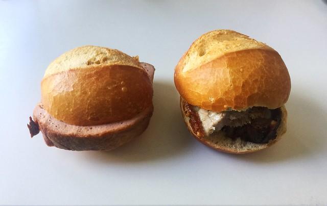 Meatloaf & Pork roast bun / Leberkäse- & Schweinebratensemmel