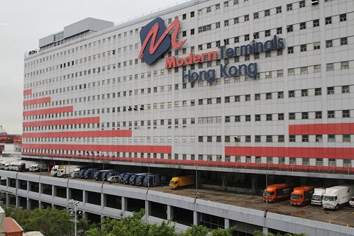Multi storey warehouse at the Modern Terminals complex
