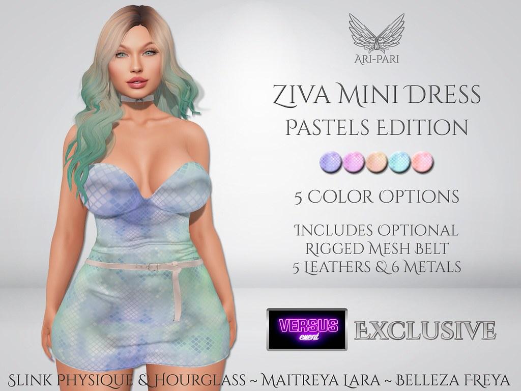 [Ari-Pari] Ziva Mini Dress – Pastels