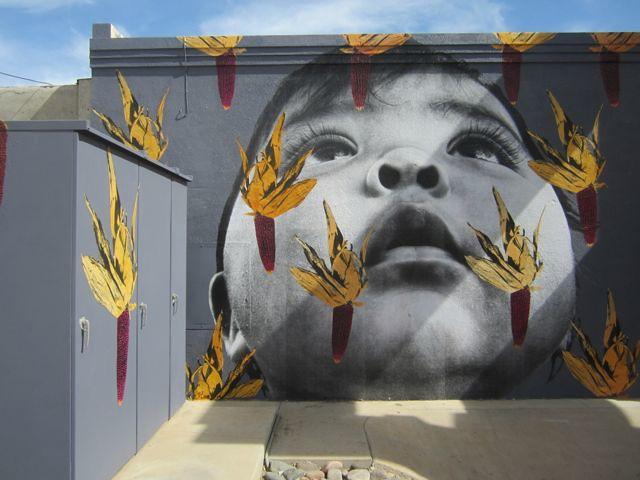 PHOTO.Yuma corn mural