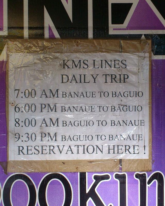 KMS Lines Van Schedule