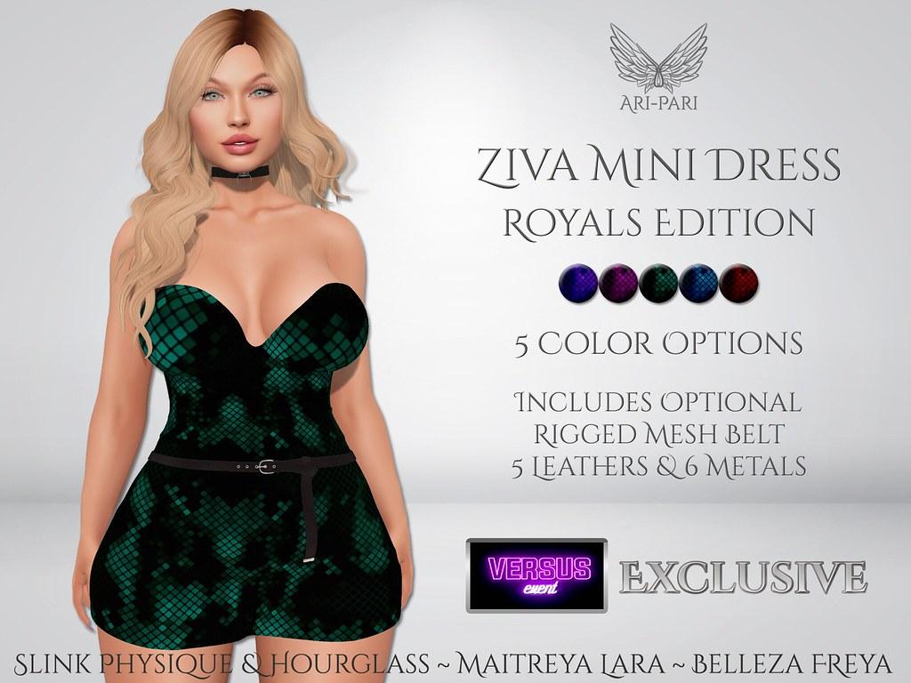 [Ari-Pari] Ziva Mini Dress - Royals