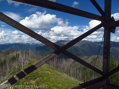 Standing under the Berray Mountain Lookout, Cabinet Mountains Wilderness, Montana