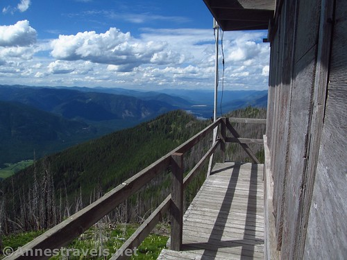 Views from the platform around the top of the Berray Mountain Lookout, Cabinet Mountains Wilderness, Montana