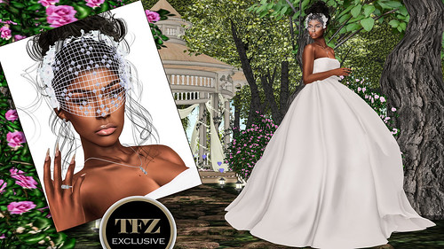 "The Surreal Lyfe featuring:: ""This Day was made for Me"" – – Fashion Dream – Bride Gown + Trilogy Rainbow Crystals @ TFZ"