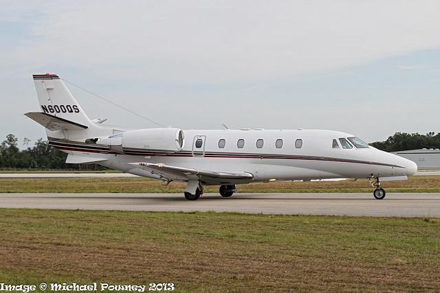 N600QS - 2006 build Cessna 560XLS Citation Excel, taxiing at Lakeland during Sun 'n Fun 2013