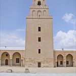 Le minaret de la mosquée de Sidi Okba (Kairouan, Tunisie)