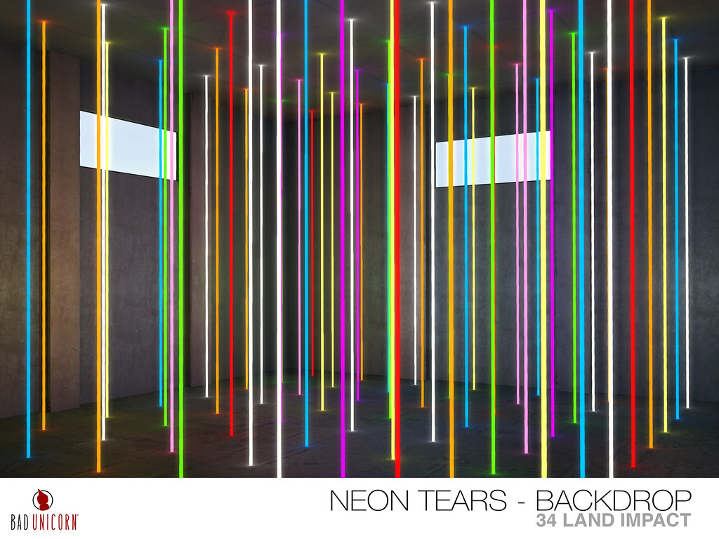 NEW! Neon Nights – Neon Tears Backdrop